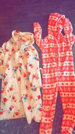 Onsie and dressing gown