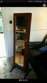 Vanity Storage Mirror Jewellery Cabinet