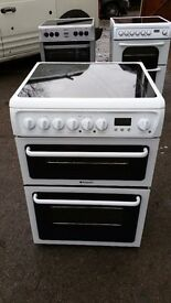 HOTPOINT HAE60P OVEN CERAMIC ELECTRIC COOKER IN GOOD CONDITION & WORKING ORDER