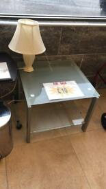 Frosted side table