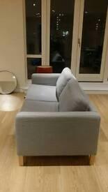 Karlstad Grey IKEA sofa