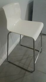 gloss white bar stool