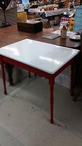 Vintage Enamel Top Dining Table for Sale