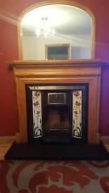 fireplace ,surround and matching mirror