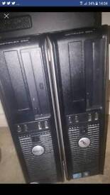 2 dell pcs no hard drives or memory card