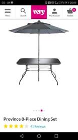 New! Garden table with parasol