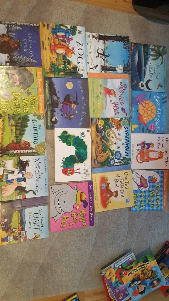 HUGE BUNDLE 95 ITEMS CHILDREN'S BOOKS DVD JULIA DONALDSON DISNEY JAKE CHUGGINGTON PEPPA PIG