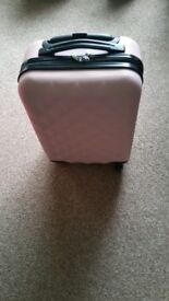 Brand New Baby pink hard shell cabin case £12.50