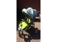 Pushchair green dots 4 big wheels