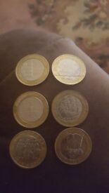 Various £2 coins