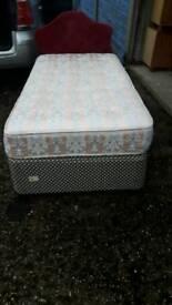 Single bed mattress and headboard