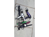 6 various hairdryers and stylers..............6 various hairdryers and stylers....