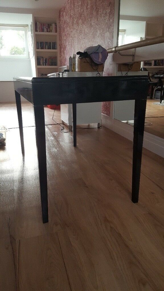 Stunning Black Orchid lacquer desk
