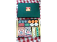 Brand new box set poker cards and chips
