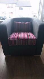 Charcoal grey 3 seater, 2 seater sofa and chair for sale