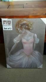 New Ballerina canvas ×2