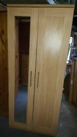 Lovely two door wardrobe with mirror in very good condition