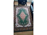 Nice dark green n brown carpet