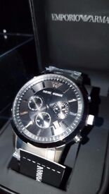 Mens Emporio Armani AR2434 Stainless Steel Chronograph Watch