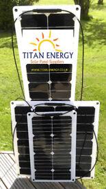 SALE! TITAN ENERGY UK Flexible Solar Panels 20W+ 50W 75W 140W caravans motorhomes