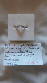 18ct White Gold Engagement Ring Size L