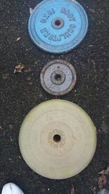 cast iron and plastic weights 100kg