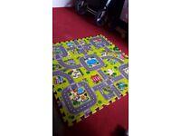 9PCS EVA Foam Children Kids Baby Play Mat Puzzle Carpet Anti slip Area Rug Green