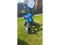 Boys smart trike for ages 10 months to 3 years. Hardly used need to sell as taking space in shed