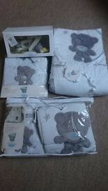 Tiny tattie teddy cotbed set/quilt and more
