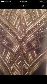 Miss selfridge embellished dress size 8
