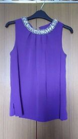 Like-New Purple Sleeveless Top