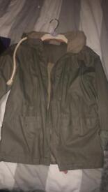 Khaki raincoat size 8