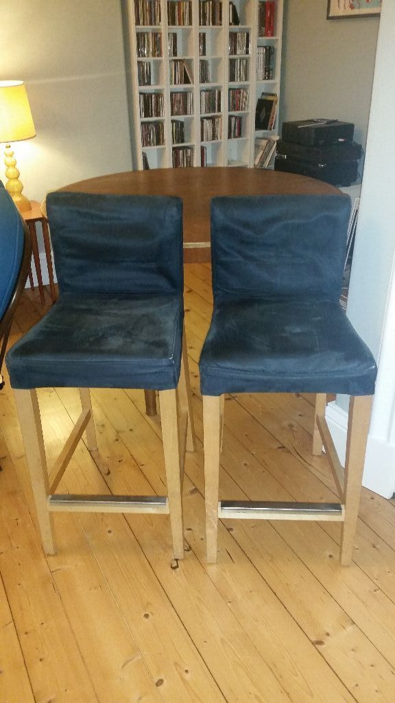 Two ikea henriksdal kitchen bar stools in navy 30 for both in pilrig edinburgh gumtree - Kitchen counter stools ikea ...