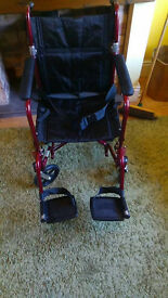 Medline Light Weight Transport Wheelchair