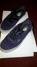 Purple Ladies Vans Size 5