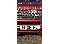 Formula 1 f1 registration plate swap or sell oh no