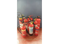 JOB LOT OF 8 FIRE EXTINGUISHERS