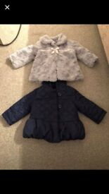 6-9 months baby girl winter coats jasper conran and George