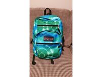 Blue and Green, large branded Jansport student backpack, only £25!