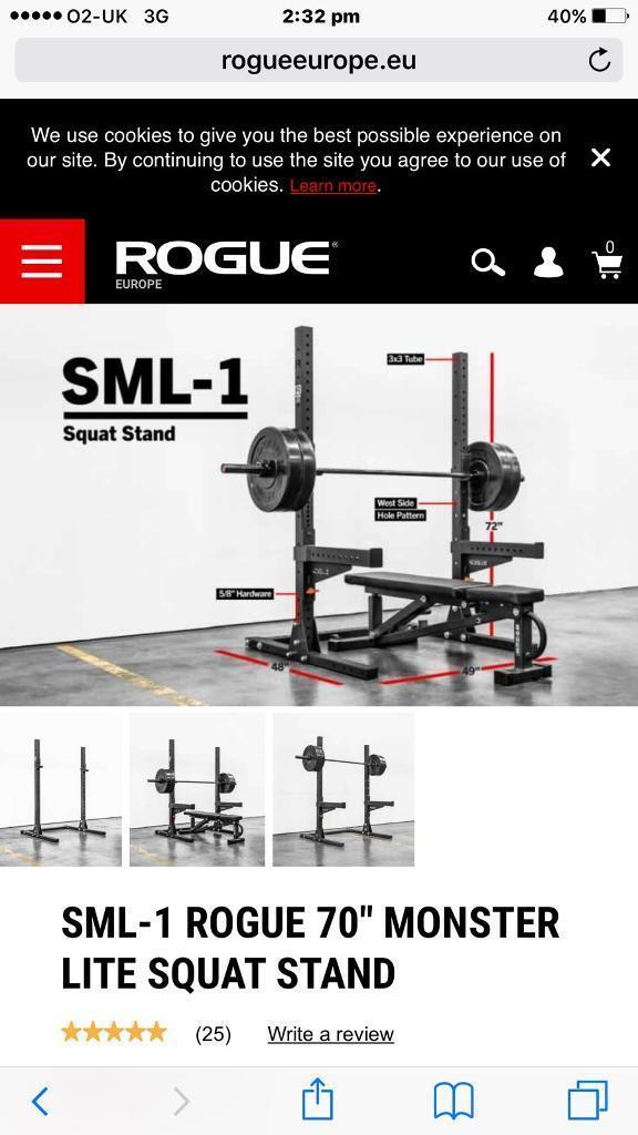 f917d2d1b70 Rogue olympics squat rack and bar
