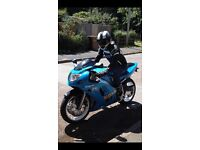 PRICE DROP Suzuki Gsxr k1 02 plate with blue and silver metal flake paint