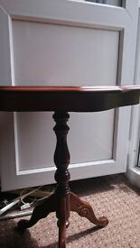 small table of wood