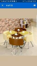 Glass dining tables and chairs various designs available in 4 and 6 chairs