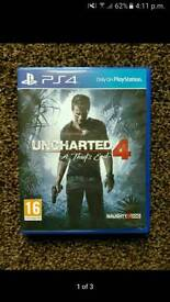Ps4 game for sale UNCHARTED 4