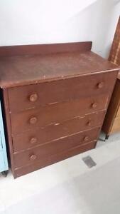 Solid Wood 4 Drawer Dresser for Sale