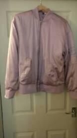 Ladies Size 14 Bomber style Jacket Pink