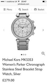 Michael kors watch currently selling for £279 in John lewis