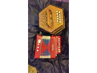 Original boxed concertina accordion commander AND Schylling compared online £s blw £120ono
