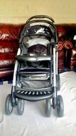 3 in 1 Graco Pushchair with Car Seat, Base & Raincover