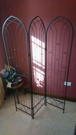 Candle Holder Fireplace Screen in metal